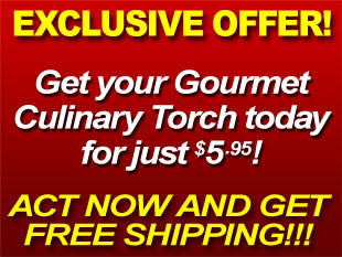 Get you Gourmet Culinary Torch Today for just $5.95!